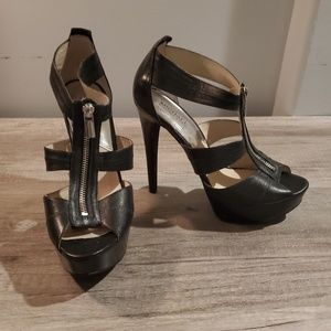 Michael Kors Black Leather 6 inch heels